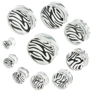 Akrylplugg med tiger mønster