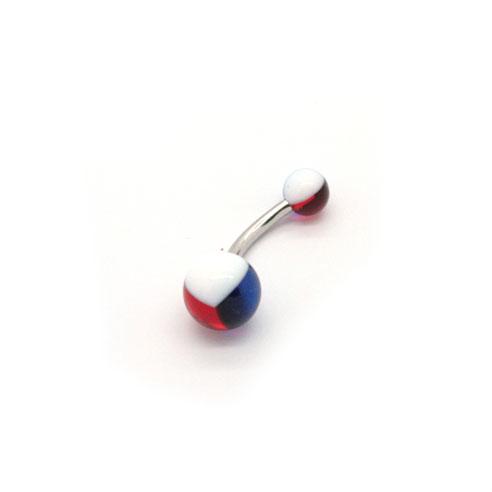 Tricolor Bananabell - Hvit, Mørkeblå & Rød