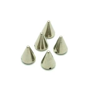 Sølv Plastikk Cones 5 stk