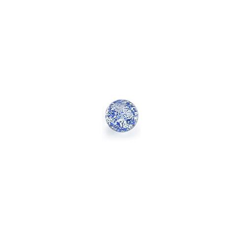 Akrylkule m Glitter - Blå