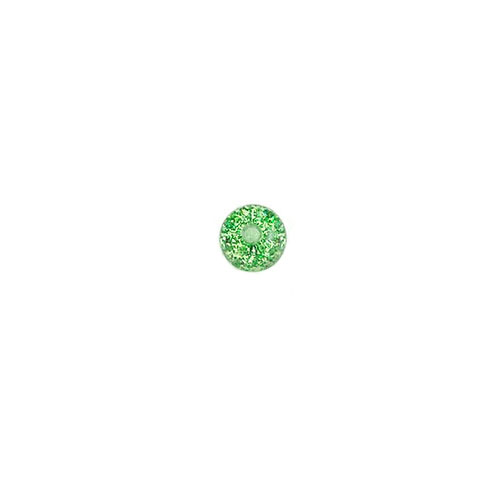 Akrylkule m Glitter - Grønn