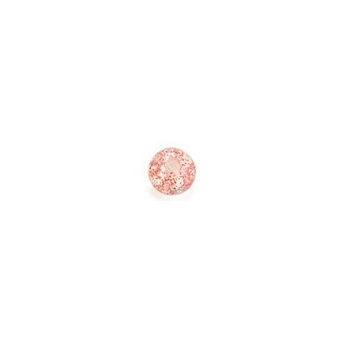 Akrylkule m Glitter - Rød