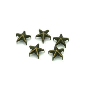 Gun Metall Stjerne Nagler 5 stk