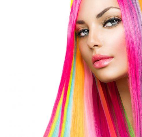 Purple Hair Stripe