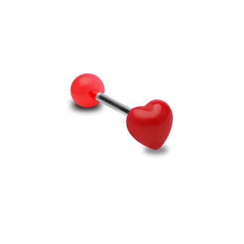 Hjerte Barbell - Rød