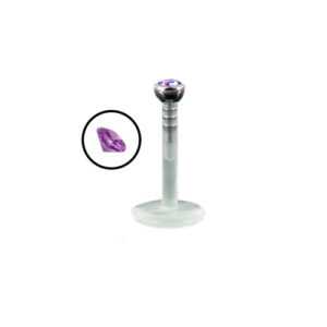 PTFE Labret Push-Top - Lilla