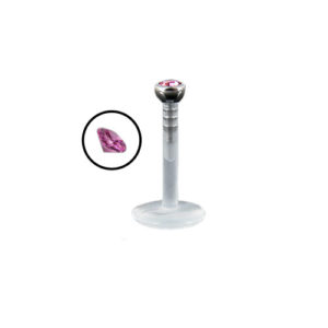 PTFE Labret Push-Top - Rosa
