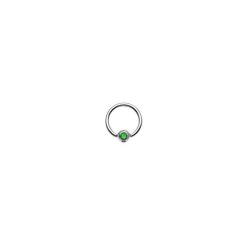 Captive Bead Ring - Grønn