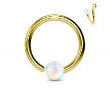 Gull ring m fast Opalite kule