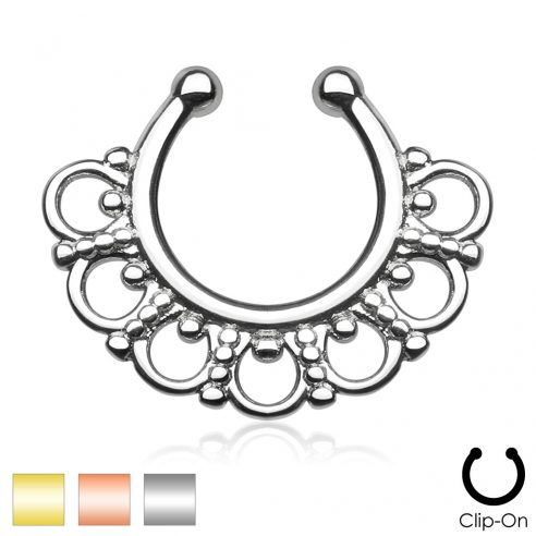 Tribal fake septum Clicker