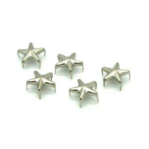 Sølv Metall Stjerne Nagler 5 stk