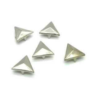 Sølv Trekant Metall Nagler 5 stk