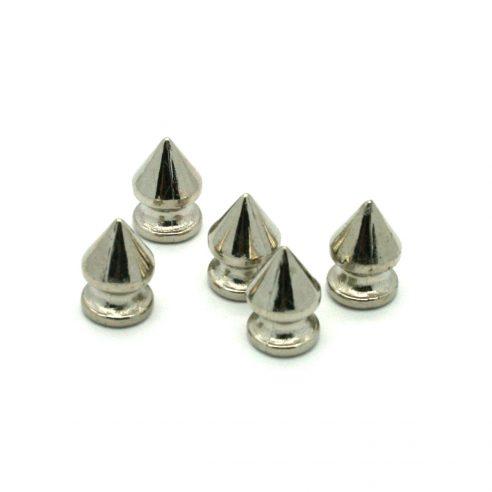 Sølv Plastikk Spikes 5 stk
