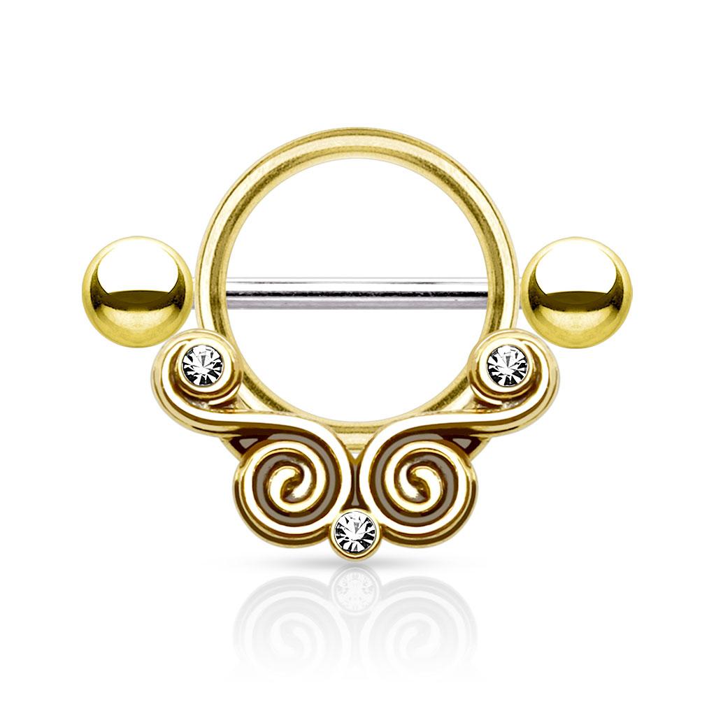 Swirls Nipple Shield - Gullfarget