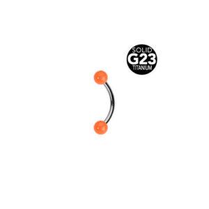 Titan Bent Barbell m Oransje Kuler