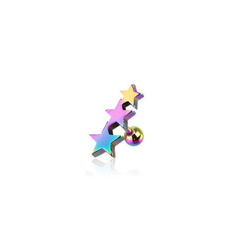 Tragus m 3 Stjerner - Multi