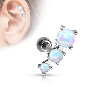Trippel Opal Tragus/Helix Barbell