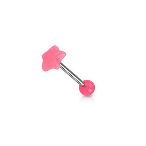 UV Barbell Stjerne - Rosa