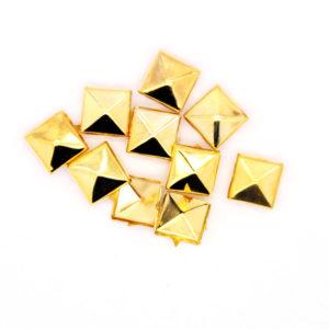 Nagler Pyramide Gull Metall 10stk
