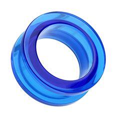 Akryl Tunnel screw fit – Blå